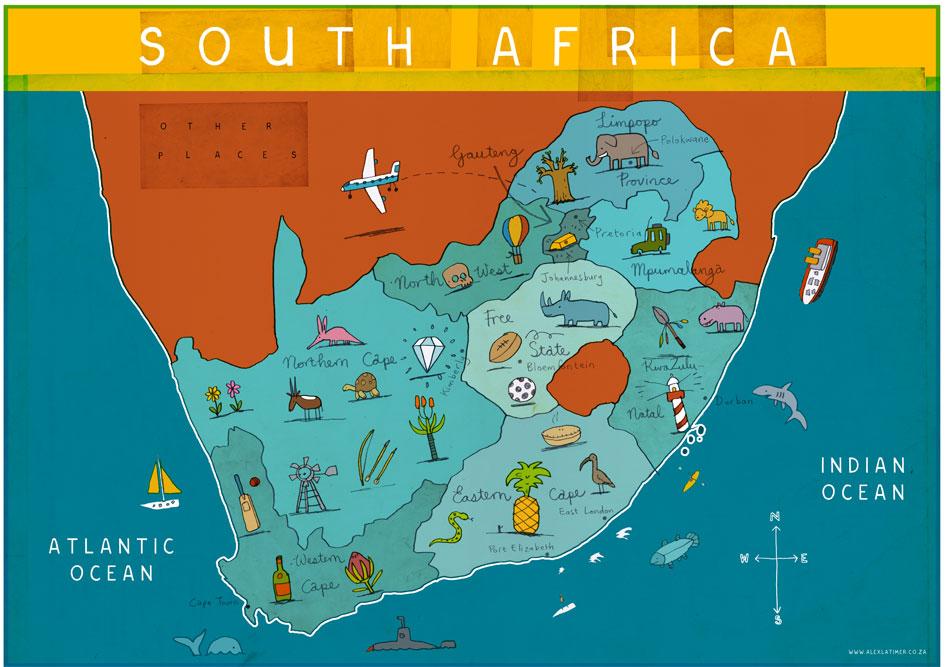 מפת דרום אפריקה